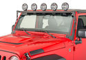 N-FAB Jeep JK Windshield Light Mount Kit Gallery 2%