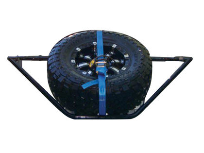 N-FAB Sliding Channel Mounted Tire Carrier