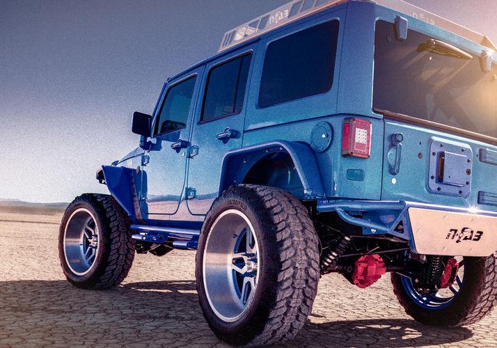 N FAB Jeep Rock Rails 2%