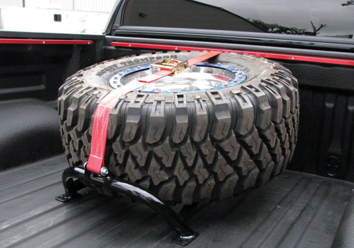 N-Fab Universal Bed Mounted Tire Carrier 1%