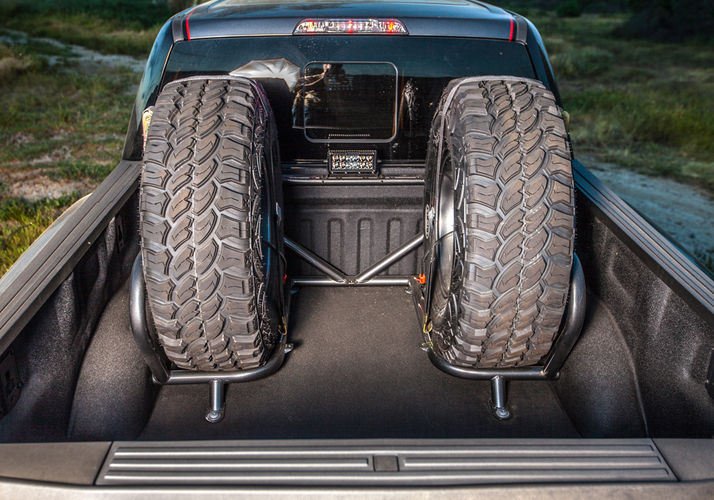 N-Fab Bed Cage Tire Carrier 1%