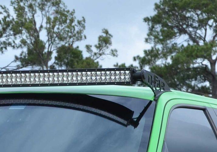 N-FAB T0650LR-TX Textured Black Roof Mounts; 50 Series Toyota FJ Cruiser  06-18